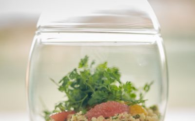 Quinoa, agrumes et salade d'herbettes de Fabien Torrente